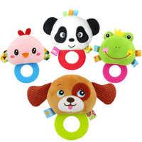 8 arten Beißring Rassel Puppe Plüsch Baby Rasseln Spielzeug Tier Hand Glocken Infant Newbron Frühen Bildung Spielzeug Tier Affe Panda