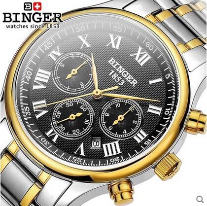 ФОТО Cool Trendy New Luxury Geneva Brand stainless steel watch women men fashion Crystal dress SelfWind wristwatch Binger Watches