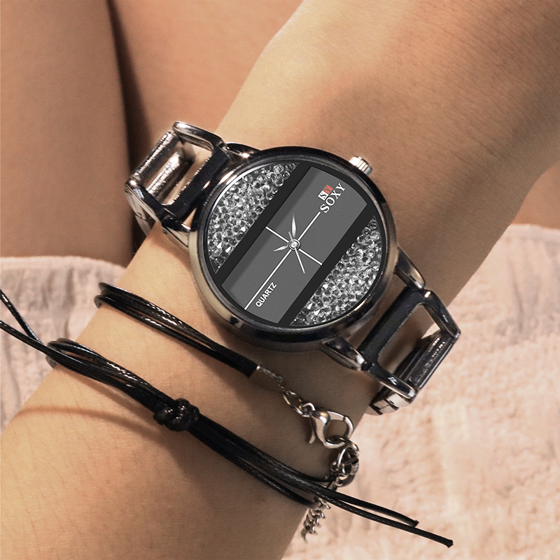 SOXY Women Watch Fashion Luxury Diamond Stainless Steel Bracelet Women's Watch Relogio Femino Wristwatch Women Watch Reloj Mujer