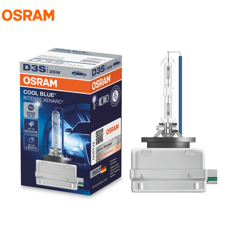 OSRAM D3S 35W 66340CBI 5000K COOL BLUE INTENSE HID OEM Bulb 20 More Light Xenon White