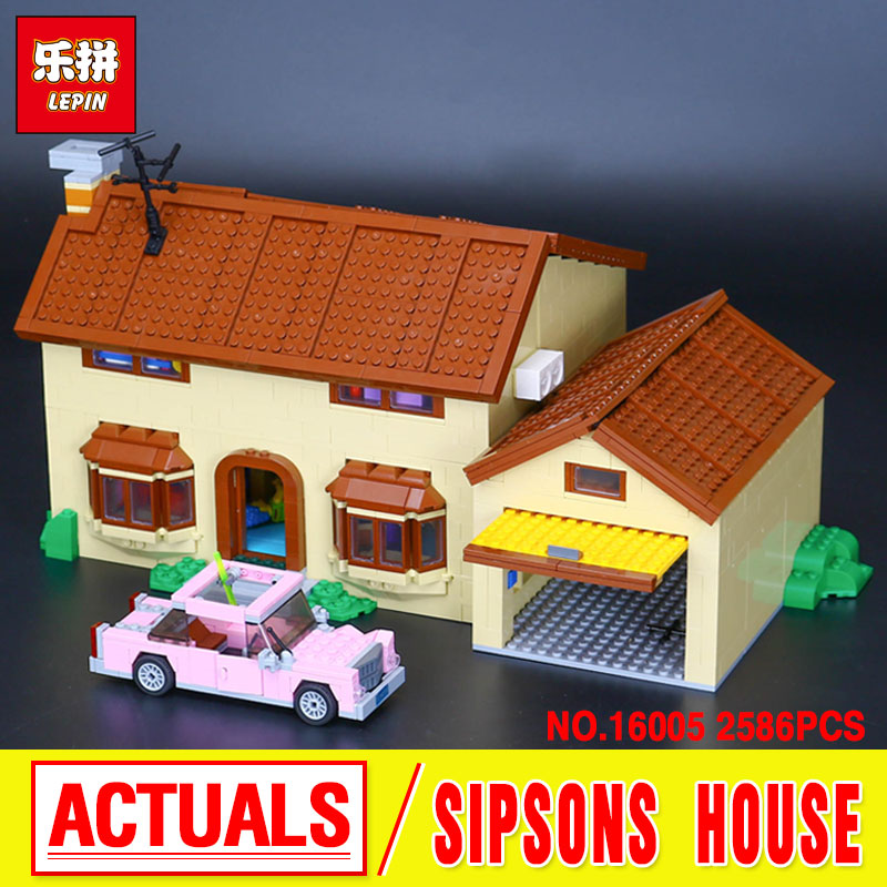 Lepin 16005 New 2586Pcs Simpson's family Kwik-E-Mart Set Building Blocks Bricks Educational Toys 71006 Funny Lovely Toys Gifts 2018 moc dhl lepin 16005 simpson s family kwik e mart building blocks bricks set assembled toys gifts clone 71006