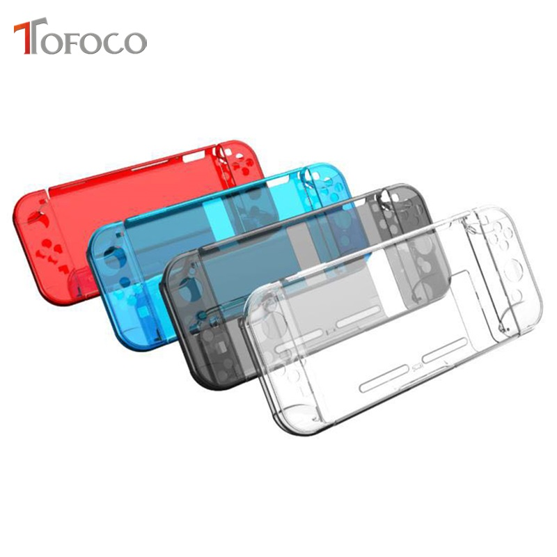 Clear Back Bag Protective Cover Case for Nintendo Switch NS NX Cases Cover for Nintend Switch Ultra Thin PC Transparent Bag crystal plastic protective back case for iphone 5 transparent blue