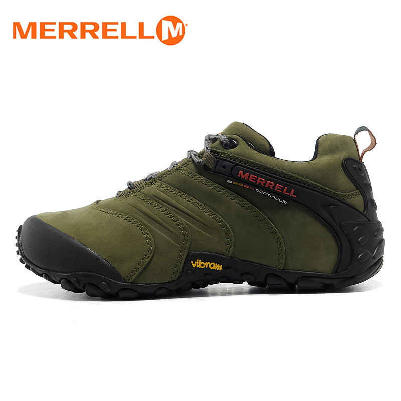 Merrel Original Professional Outdoor Men Nubuck Genuine Leather Hiking Shoes for Male Wearable Mountaineer Climbing Sneakers original li ning men professional basketball shoes