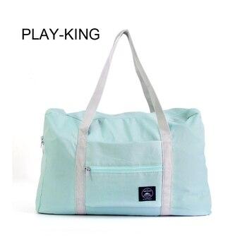 PLAY-KING Waterproof Polyester Men Women Travel bags Folding Duffle Bag Large Capacity Girl weekend luggage bags for women folda king a khaliq play me girl