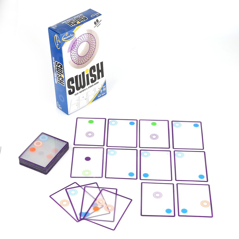 Children Logic Game Toy Swish - A Fun Transparent Card Game Logic Games For Kids Playing Cards Spot Board Games Toy For Children