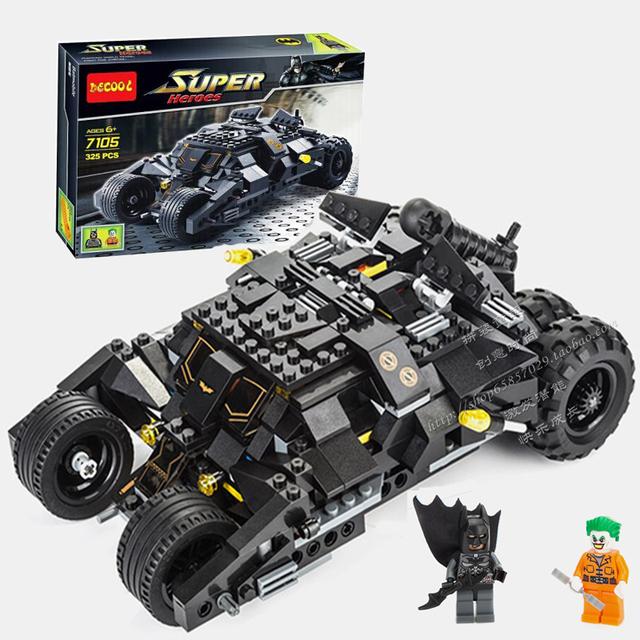 Decool 7105 vaso tumbler compatible super heroes batman bat batman bloques de construcción de juguetes para los niños