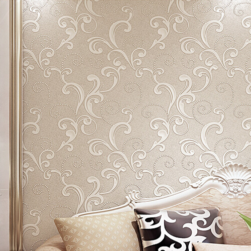 Creamy White Modern 3d Floral Wallpaper Embossed Textured