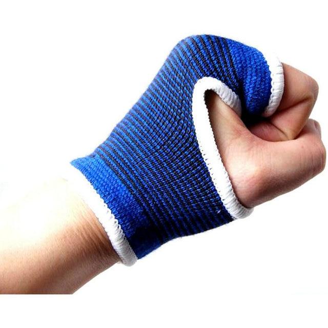23892742431fc 2 Pcs Apoio para o Punho Sports Pulseira Bracer munhequeira esportiva  Protetor de mão de Compressão