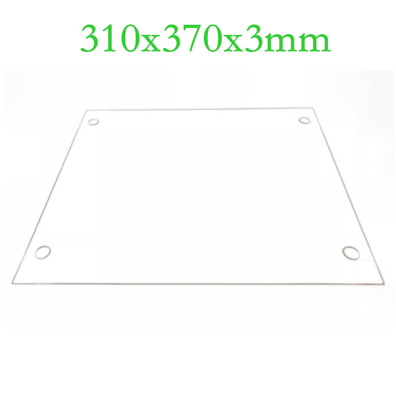 SWMAKER <font><b>3D</b></font> Printers <font><b>Parts</b></font> 310x370x3mm Borosilicate Glass Plate Flat w/ Screw Holes Polished Edge For DIY <font><b>Tevo</b></font> <font><b>Tornado</b></font> <font><b>3D</b></font> printer image