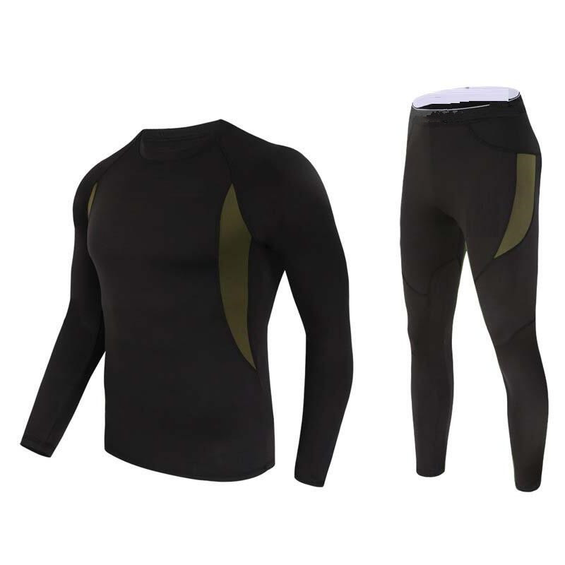 new men thermal underwear sets compression fleece sweat quick drying thermo underwear men clothing Long