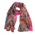 Envío Gratis amante de las señoras imprimir pañuelo de gasa Infinito Bufandas mujeres chal toalla de Playa femenina niñas bufanda de seda larga bufanda suave