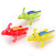 1pcs Unisex Mini Fun Baby Bath Toy Crocodile Wind Up  Swimming Toy Clockwork Dabbling Toy for Baby Kid Educational as Gift FCI#