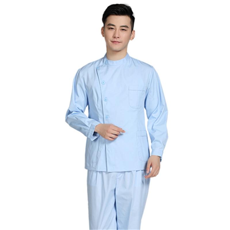 Hot Men Medical Scrub Sets Hospital Doctor Uniforms Dental Clinic Beauty Salon Long Sleeve Medical Workwear High Quality T333