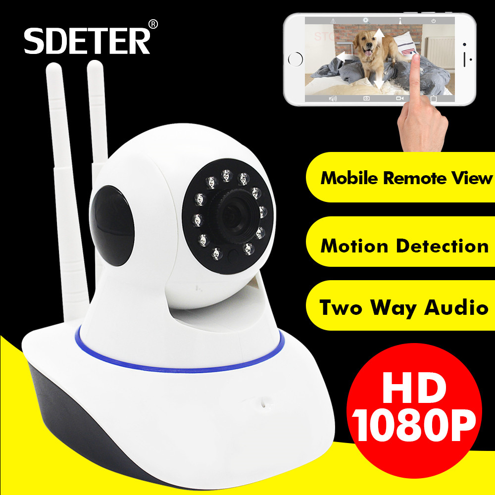 SDETER 1080P Full HD 2MP Wireless CCTV IP Camera-Wifi Home Security Surveillance Camera Baby Monitor Motion Detection Alarm Wifi подвесной светильник arte lamp mars a3003sp 3wh