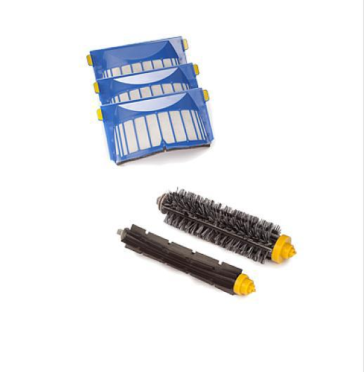 Aerovac Filter +Bristle and Flexible Beater Brush for irobot roomba 620 610 630 650 660 Vacuum Cleaner Accessories bristle brush flexible beater brush fit for irobot roomba 500 600 700 series 550 650 660 760 770 780 790 vacuum cleaner parts