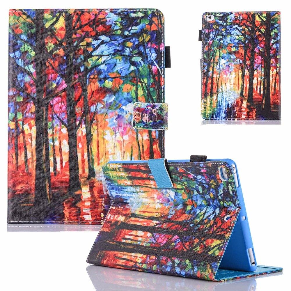 все цены на For iPad Mini Case Mini 2/3 Case Fashion Art Prints PU Leather Flip Folio Wallet Case Cover for iPad Mini 1/2/3/4 Fundas Coque онлайн