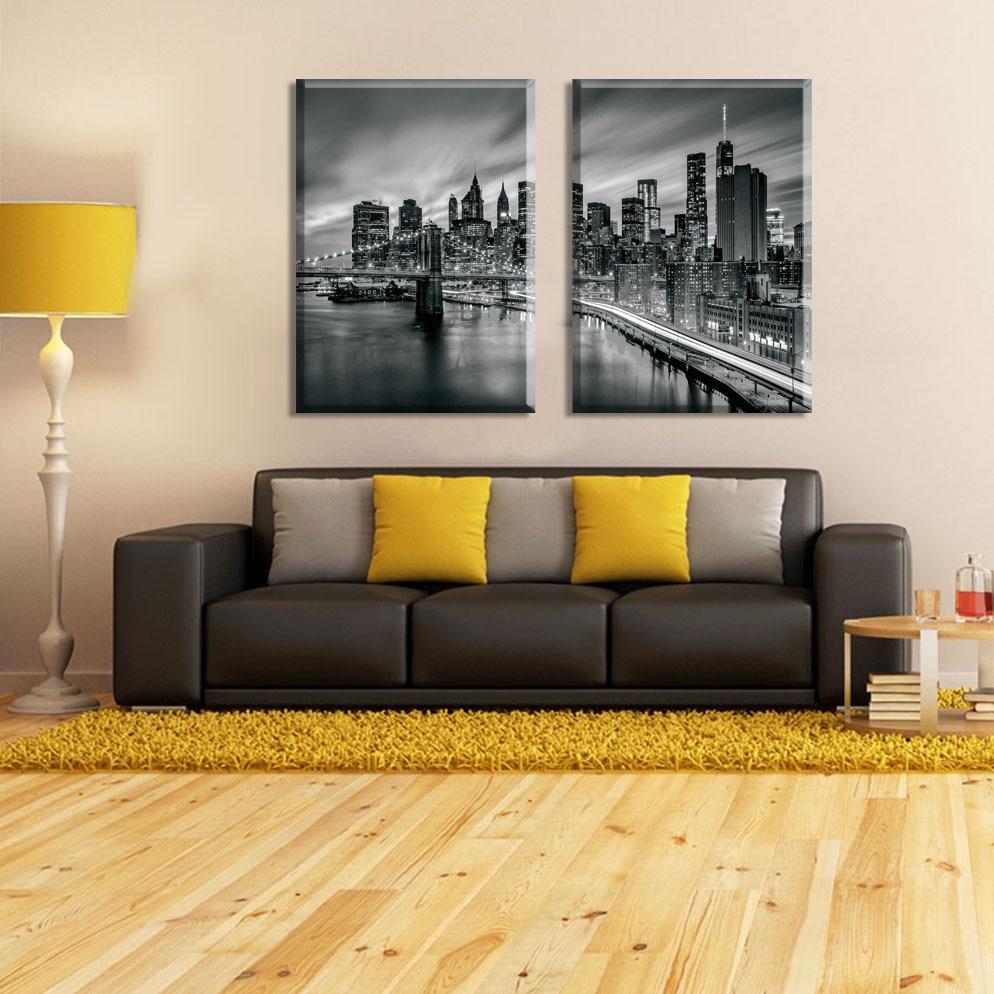 3 piese orașul New York Tablouri modulare pictură pe pânză Artă - Decoratiune interioara - Fotografie 4