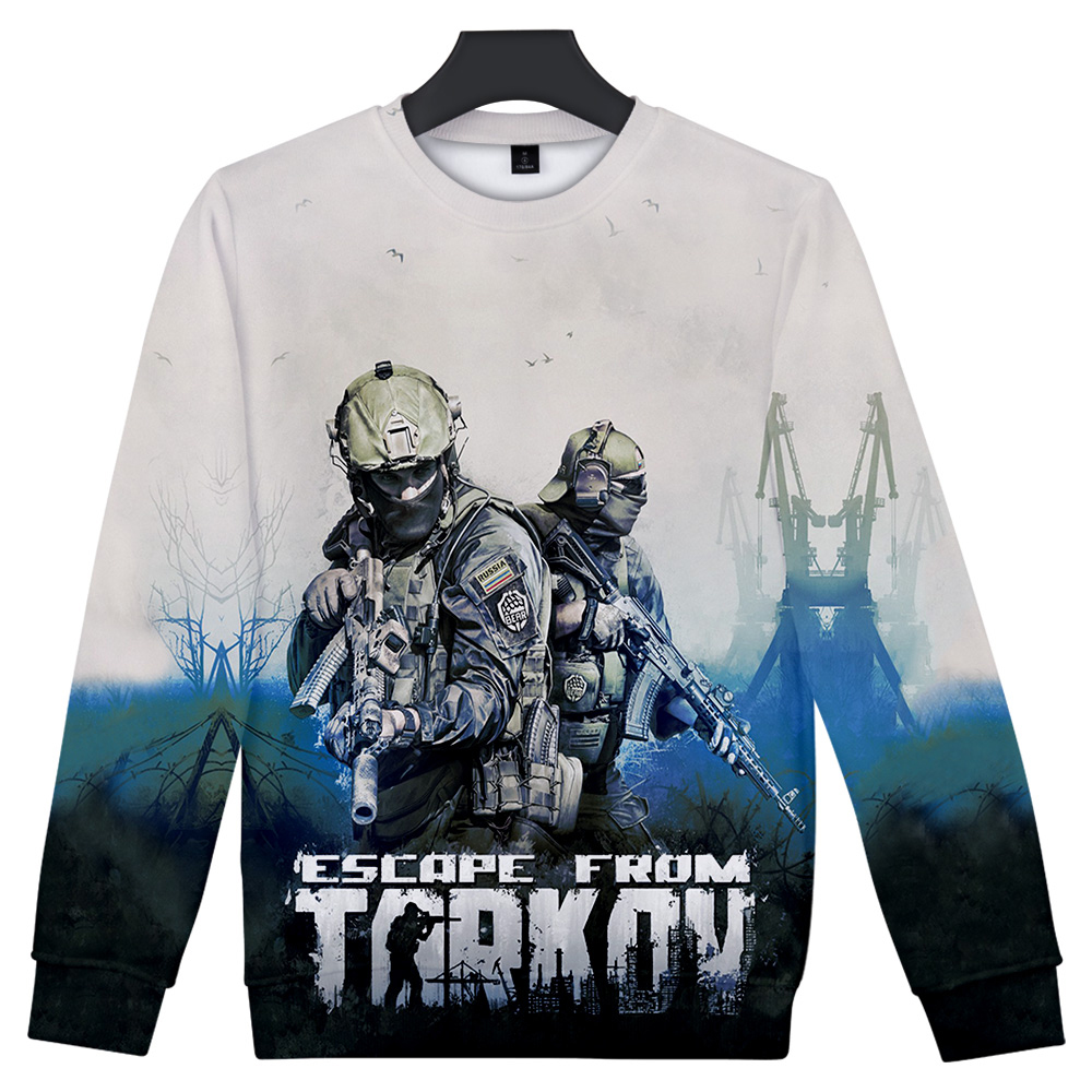 3D Escape from Tarkov Sweatshirt Men/Women Game O neck Sweatshirt Wild Harajuku Boy/Girl  Escape from Tarkov print Cool Clothes 1
