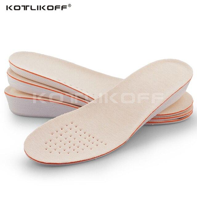ed4f454883 Aumento da Altura Palmilhas Para Sapatos Elevadores KOTLIKOFF Para Homens E  Mulheres Palmilha Sola de Sapato