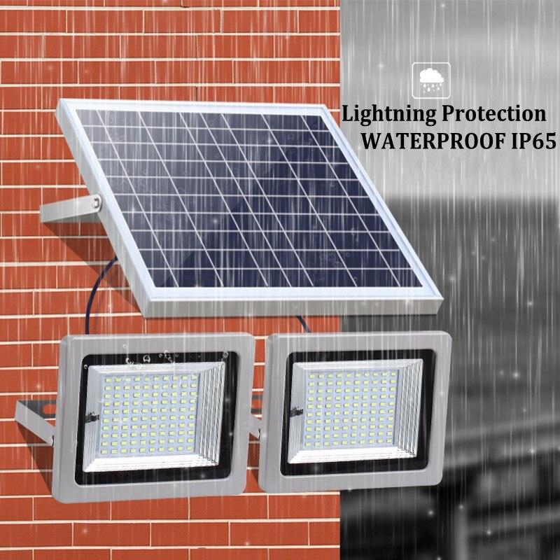 36W 60W 80W 100W SMD5730 éclairage LED LED capteur à énergie solaire lumière de sécurité extérieure jardin lampe d'inondation étanche blanc froid