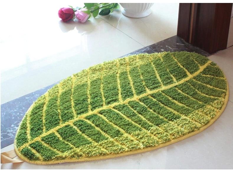 belle fun look vert feuille tapis tapis dcoratif non drapant non drapant - Tapie Salle De Bain Aliexpress