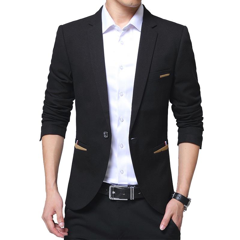 TFETTERS Brand Casual Blazer Men 2018 Solid Color One Button Party Suit Jacket Slim Fit Wedding Suits &blazer Big Size 5XL Coat