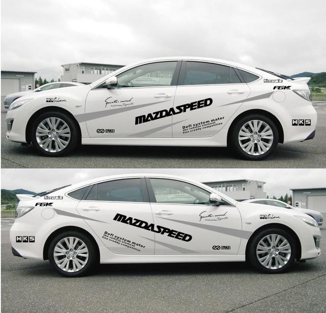 Car sticker decal racing stripe garland mazda for mazda 3 mazda 6 m3