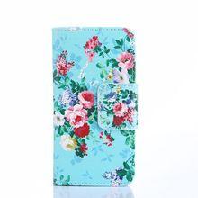 Colofrul padrão verde flor slot para cartão de carteira estande couro pu tampa do caso da aleta para o htc one mini 2 m8 mini