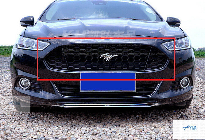 Black! Honeycomb Mustang Style Front Grille Grill 1 Pcs For ford Fusion 2013 2014 2015 free shipping front center grill grid grille cover trim for 2014 2016 for toyota corolla