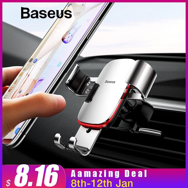 Универсальный автомобильный держатель для телефона для iPhone X XS Max samsung huawei Автомобиль Air Vent монтажный зажим Металл тяжести держатель мобильного телефона