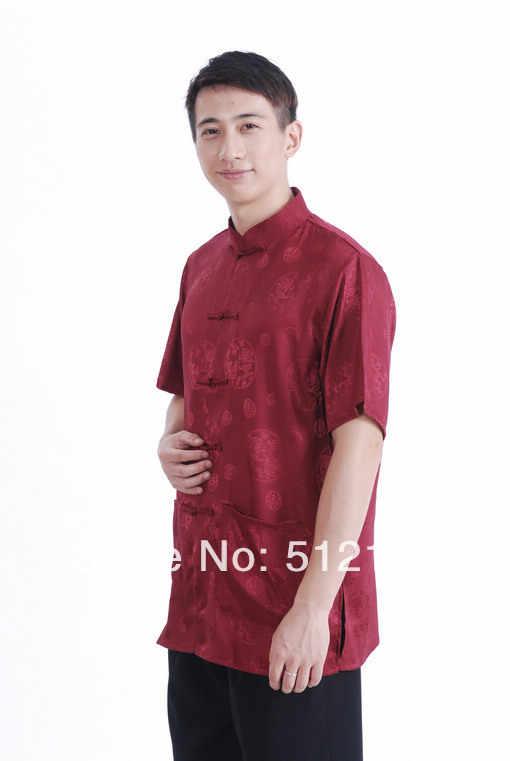 上海ストーリー新しい販売サテンシャツ中国伝統clothing中国clothing男唐装中国シャツ用男性