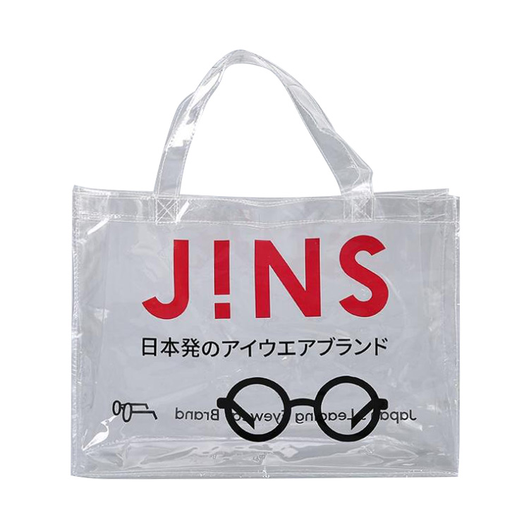 Personalized Clear PVC Transparent Shopping Totes Bags Available For Customize