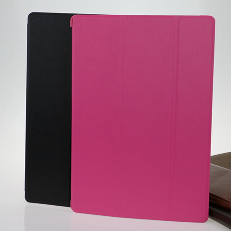 3 Folding Case tablet for Lenovo tab2 A10-70 Pu leather flip case stand capa para cover free shipping