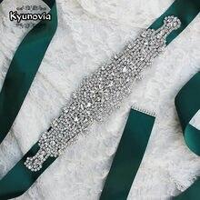 Kyunovia womens wedding sash cinto strass cintura cetim cintos de noiva festa da dama de honra cinto vestido cummerbunds fb21