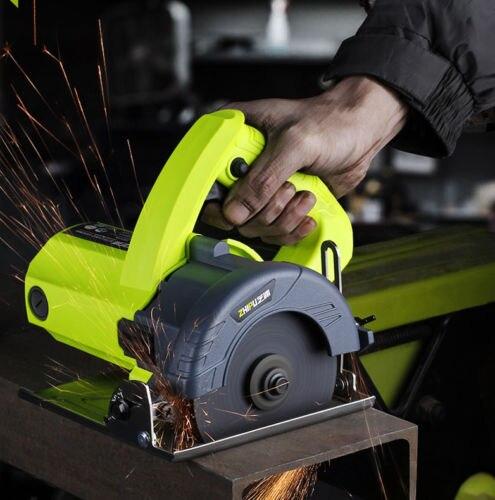 1500W 110mm wielofunkcyjny piła elektryczna drewna/metalu/marmuru/płytki nóż do cięcia kąt regulowany przenośna maszyna tnąca