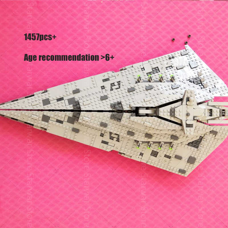 Bela 10901 First Destroyer Compatible Starwars 75190 Star wars Millennium falcon Playmobil Building Blocks Toys 05007