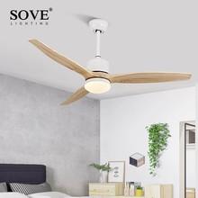 Modern LED 15W Ceiling Light Fan Wood Fans With Lights Wooden Lamp Decorative Wentylator Pokojowy