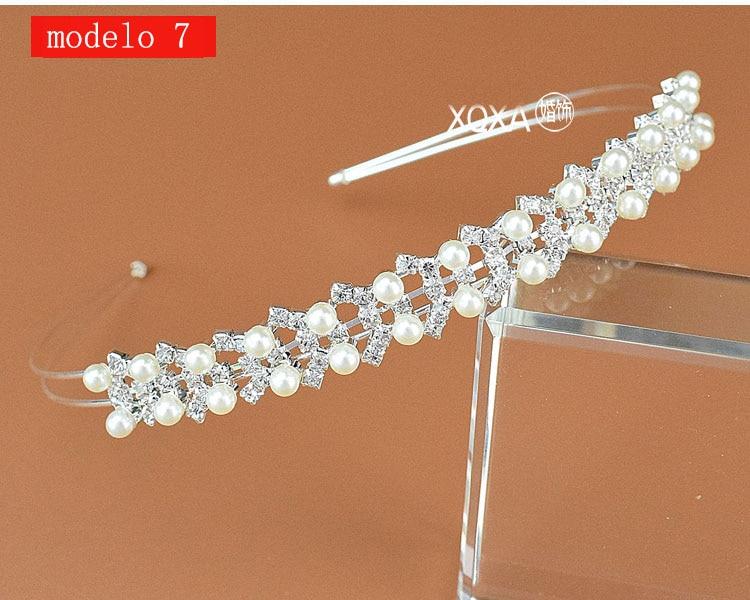 Moda feminina strass cristal cabeca bandagem no cabeca coroa Tiara de noiva de cabelo acessorios (15)