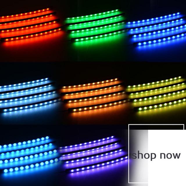 Online Shop RACBOX LED Strip Foot Light Car Atmosphere Floor