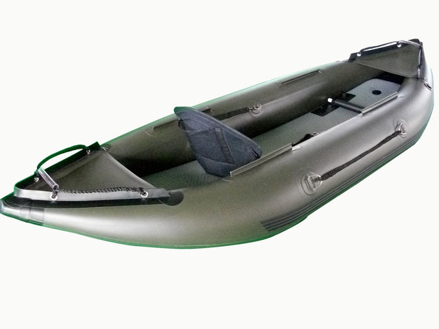Wholesale Custom Single 1 Person Inflatable Kayak Canoe Drawing Air Bottom Fishing Boat Dinghy Rowing