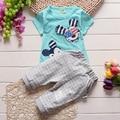 Summer boy clothes suit Mickey T-shirt+pants 2 pieces 100% cotton kids short sleeve clothes suit 4 s/l