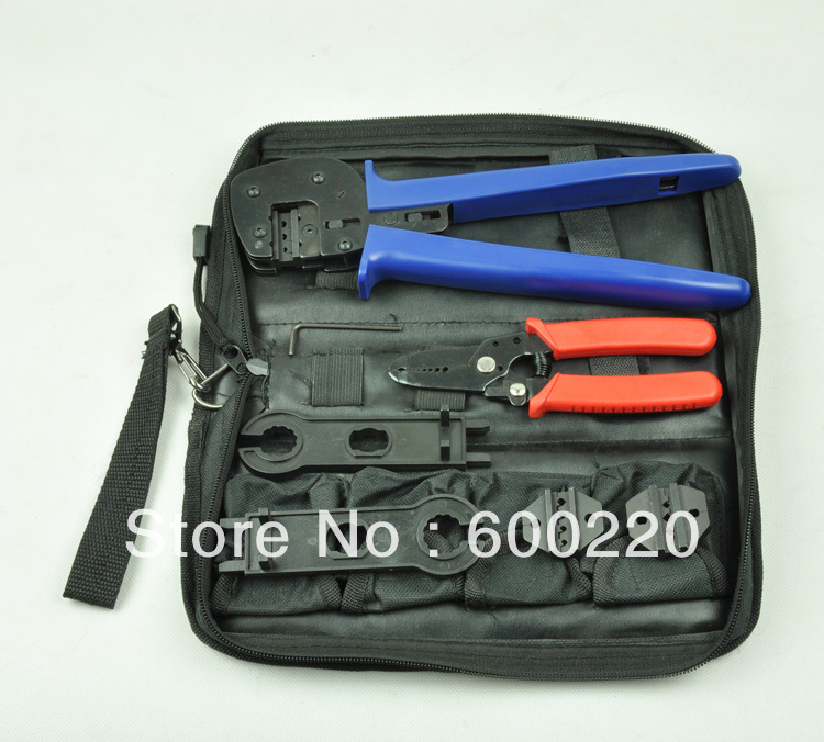Solar PV Tool Kits for 2.5-6.0mm2 MC3/MC4/Tyco connectors crimping tools solar crimping tool kits with 2 5 6 0mm2 crimping tool mc3 mc4 crimping die solar tool set with mc4 mc3 crimper stripper cutter