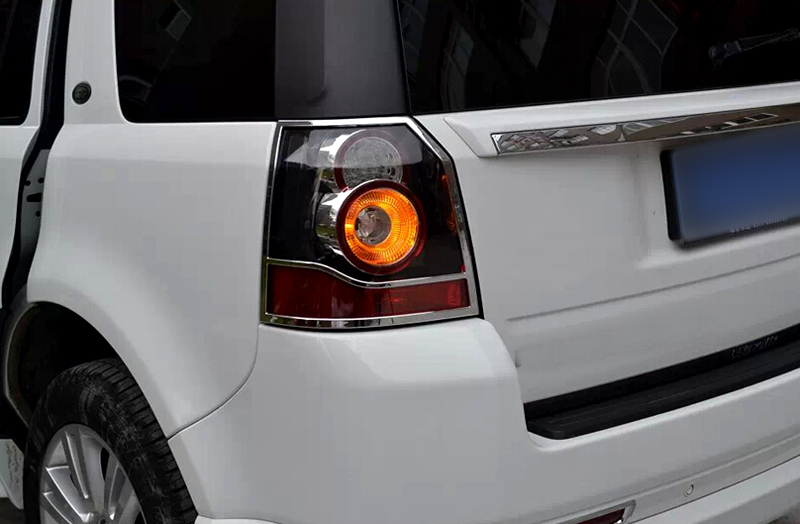ABS Chrome Taillight rear lamp cover trim Pair For Land Rover Freelander 2 2011 2015 font