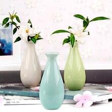 1 шт. керамическая ваза Креативный цветочный горшок орнамент офисный стол мини ваза свадебное украшение 10,5x4,7x4,7 см Прямая поставка