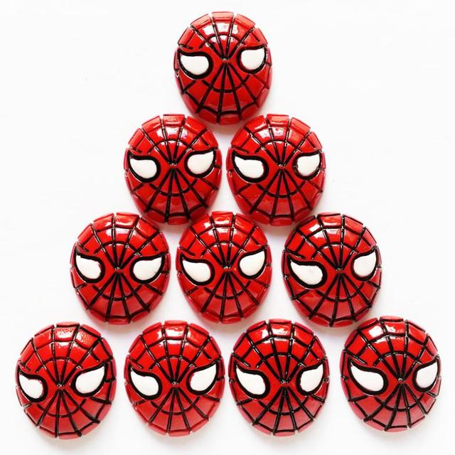 """Wholesale Bulk 50pcs 1"""" Red kawaii Cute Spider Man Flatback Resin Cabochons for Girl Hair Bow Home Decoration Accessories"""