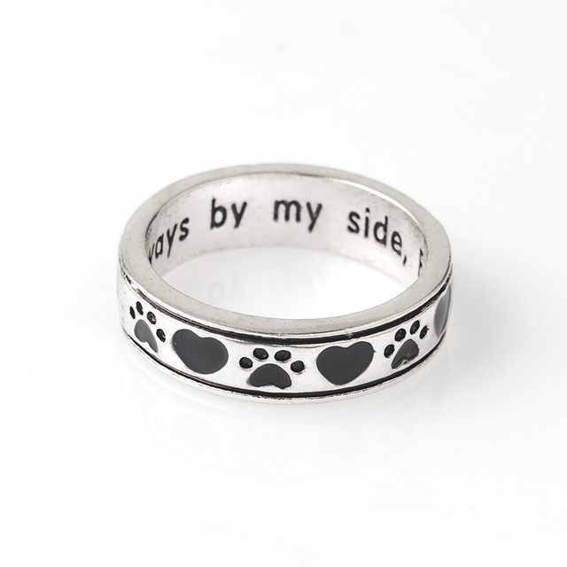 paws and pin my bone paw sterling print ring animal ending lovers rings off pet dog bones never silver