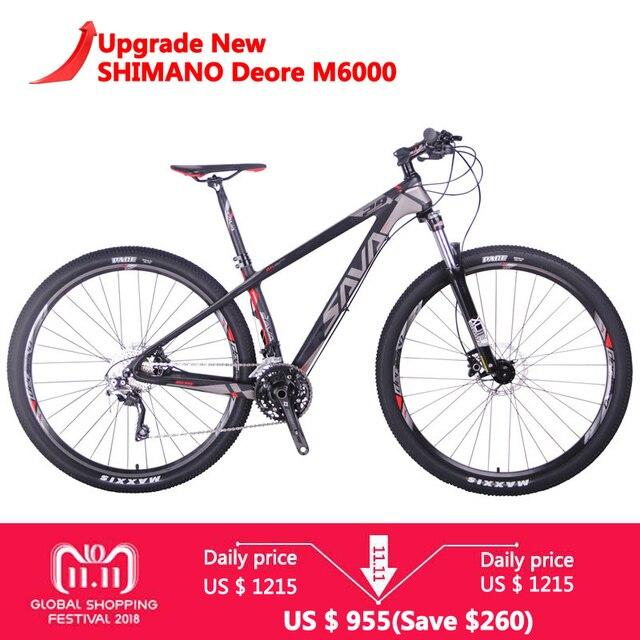 Сава DECK300 Для мужчин горный велосипед mtb углеродного волокна горный велосипед 29 горных велосипедов велосипеды mountain SHIMANO M6000 bicicleta mtb