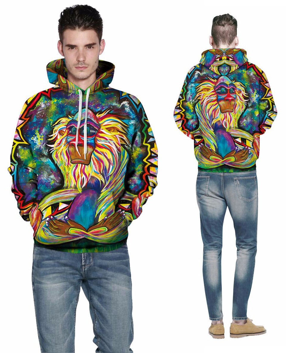 Wolf Printed Hoodies Men 3d Hoodies Brand Sweatshirts Boy Jackets Quality Pullover Fashion Tracksuits Animal Streetwear Out Coat 60