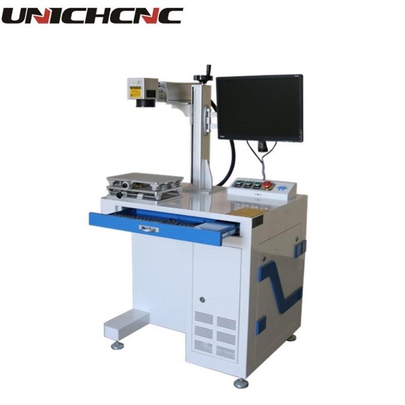 Machines de marquage de fibers de bureau 50 w de qualité or