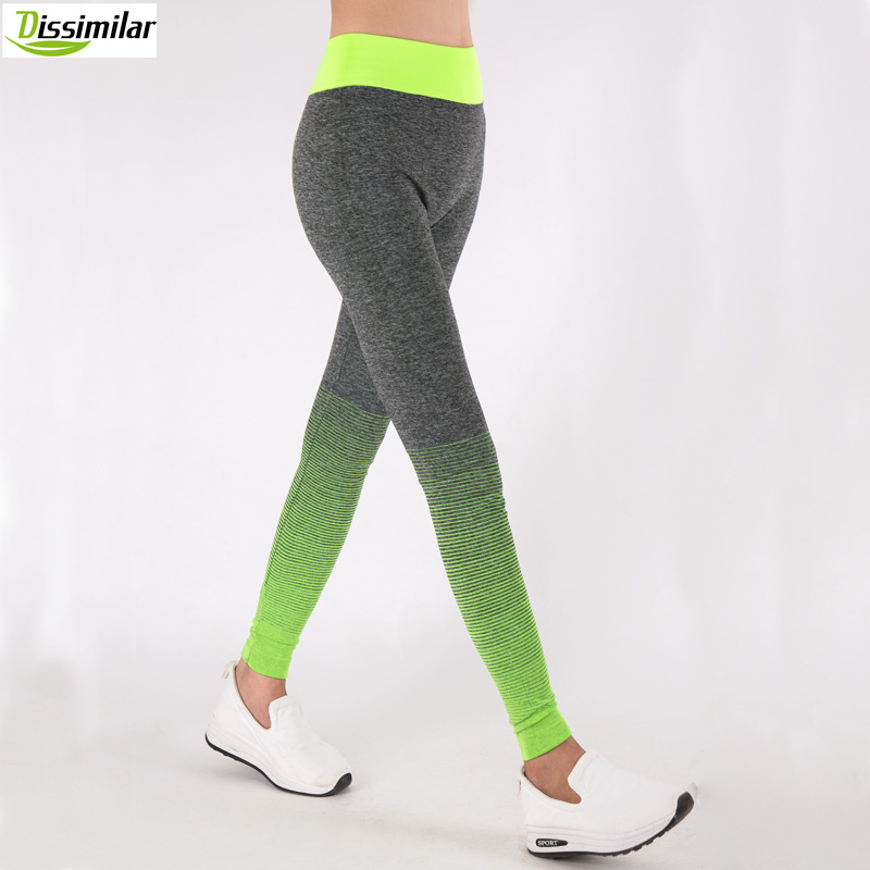 DISSIMILAR Women Fitness Ombre Pants <font><b>Activewear</b></font> Slimming Seamless Leggings High Rise Workout 6 colors